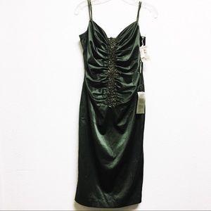 Julian Joyce Vintage Embellished Green Dress sz 8